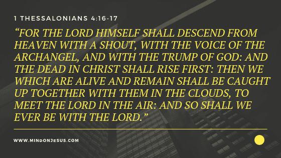 1 Thessalonians 4:16-17 Bible verse image