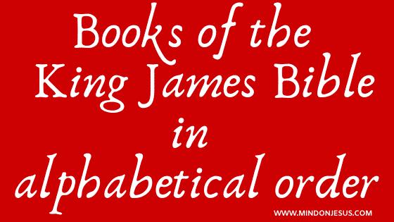 List of books of the kjv bible in alphabetical order