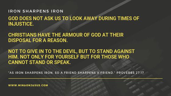 Iron Sharpens Iron. Proverbs 27:17