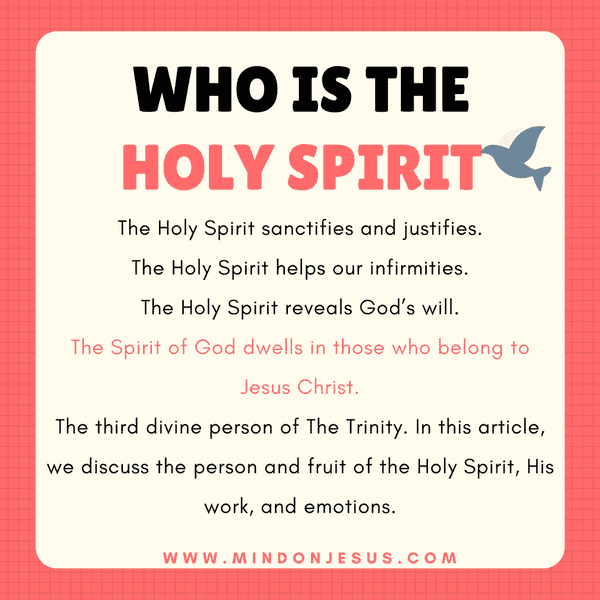 Who is the Holy Spirit. His personality, work and emotions.
